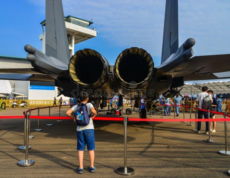 Сингапур Airshow 2018 стоковые фотографии rf
