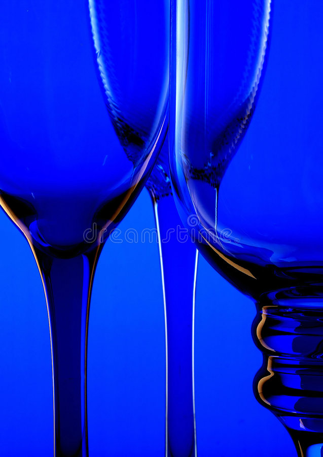 синее стекло ii предпосылки стоковое фото