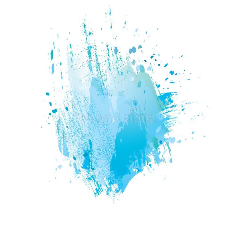 Сине-пятно иллюстрация вектора
