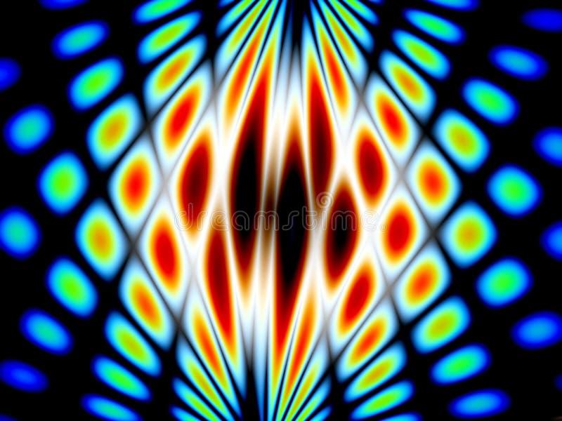 Синий абстрактный фрактал 3d рендеринг иллюстрации стоковые фотографии rf