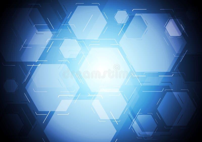 Download Синий фон техника иллюстрация вектора. иллюстрации насчитывающей геометрия - 40591484