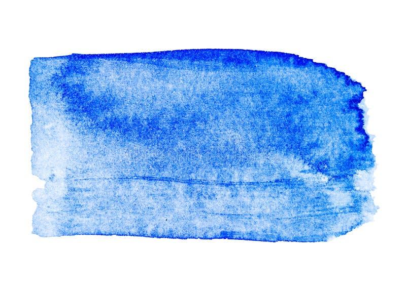 Синий цвет воды изолирован на белом фоне иллюстрация вектора