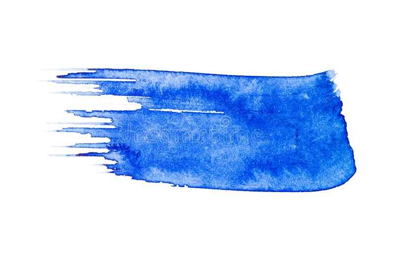 Синий цвет воды изолирован на белом фоне иллюстрация штока