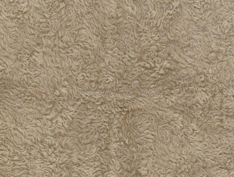 Синтетический коричневый цвет меха стоковое изображение rf