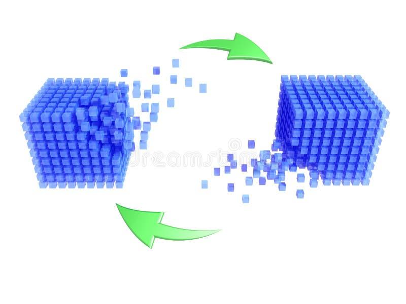 синхронизация базы данных иллюстрация вектора