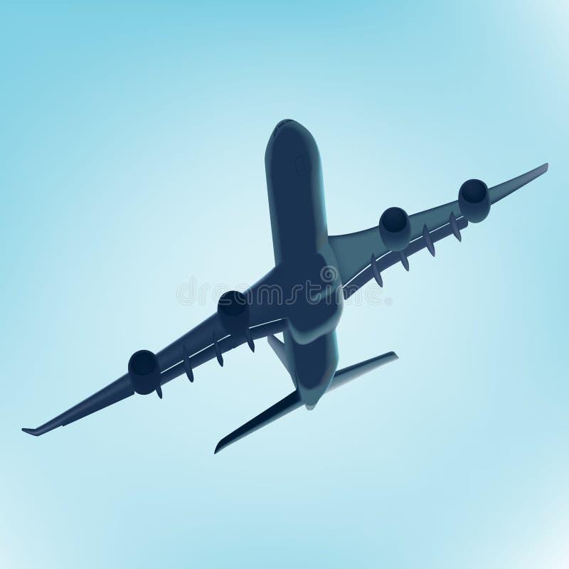 синь аэроплана иллюстрация вектора
