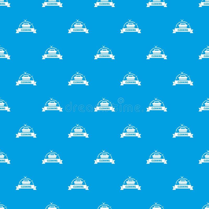 Синь вектора картины дома чистки безшовная бесплатная иллюстрация