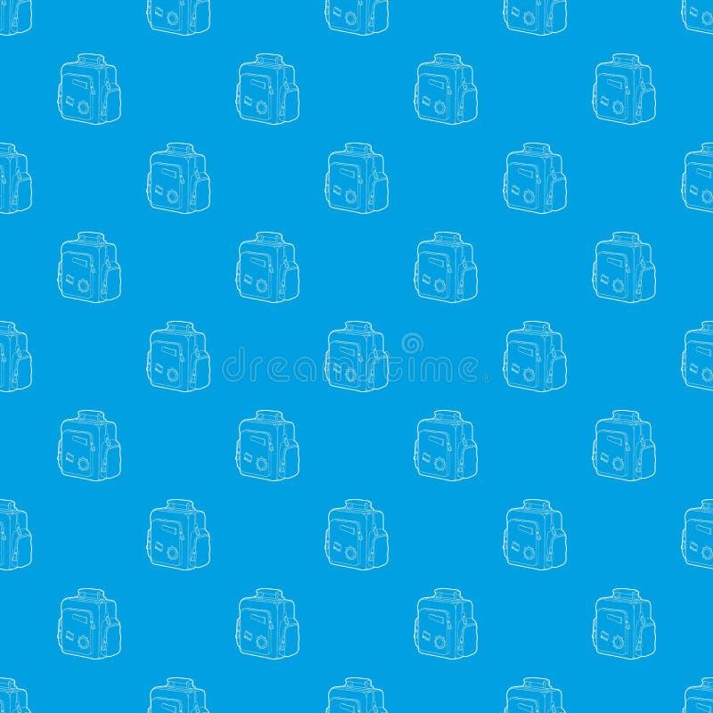 Синь вектора картины сумки школы мальчика безшовная иллюстрация вектора