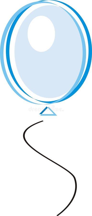 синь воздушного шара иллюстрация штока