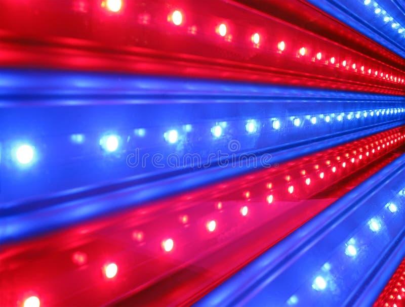 синь детализирует красный цвет силы освещения диско стоковые изображения