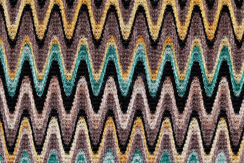 Синь, желтый и серый цвет развевают ткань картины горизонтальных прямых стоковая фотография