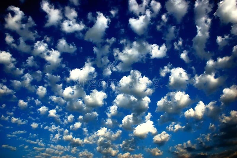 синь заволакивает небо стоковое изображение