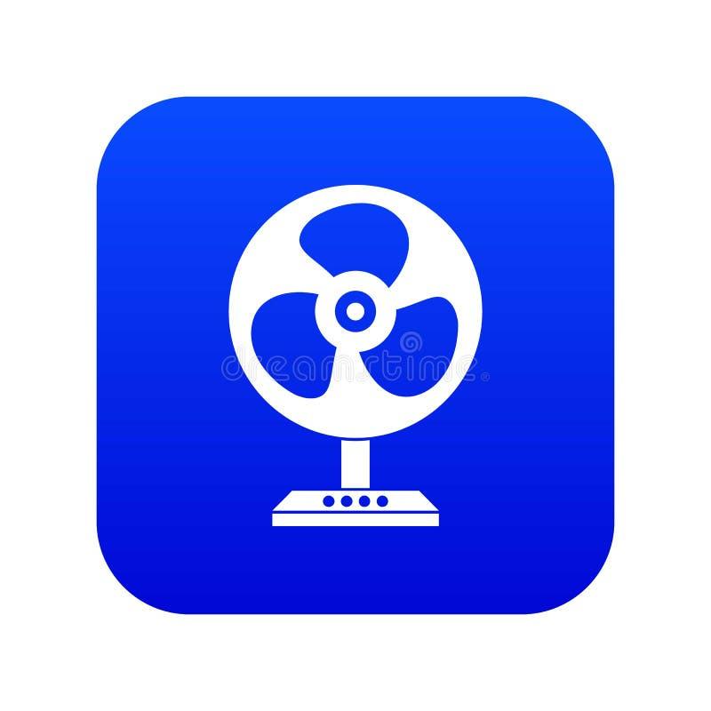 Синь значка вентилятора цифровая иллюстрация штока