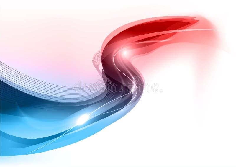 Синь и красная волна иллюстрация вектора