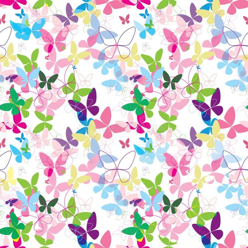 Синь картины вектора бабочки красочная безшовная розовая бесплатная иллюстрация