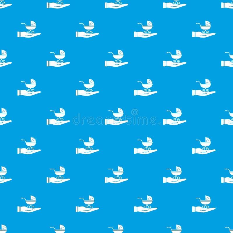 Синь картины предохранения от pram младенца безшовная иллюстрация вектора