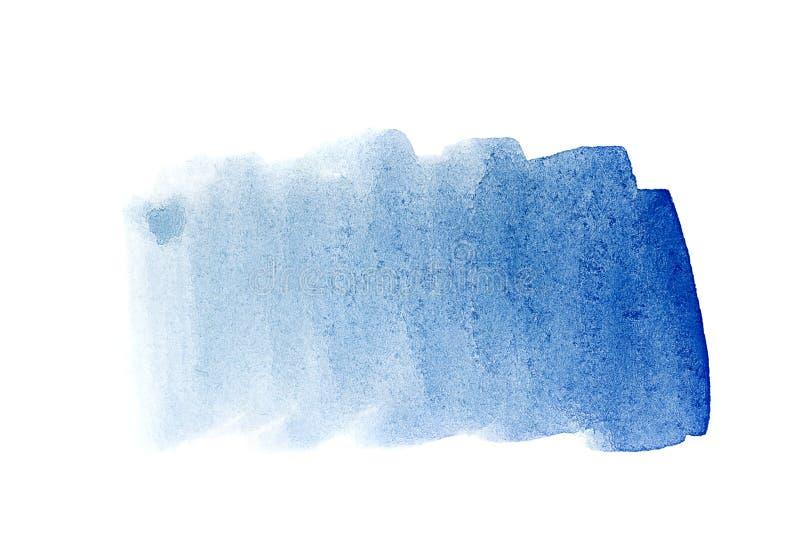 Синь кобальта предпосылки акварели иллюстрация штока