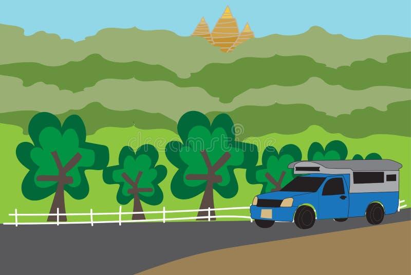 Синь комплектует вверх такси Nan тележки бесплатная иллюстрация