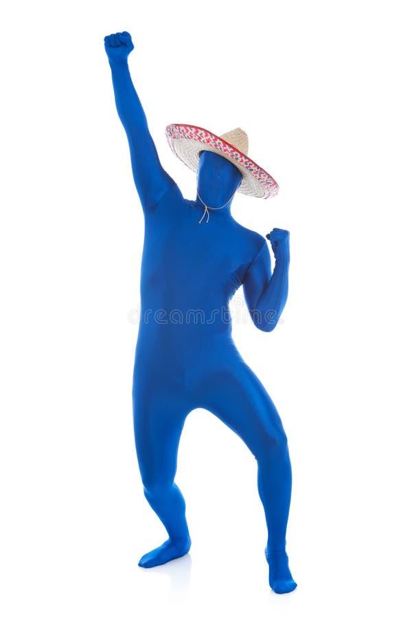 Синь: Мексиканские партии человека стоковые изображения rf