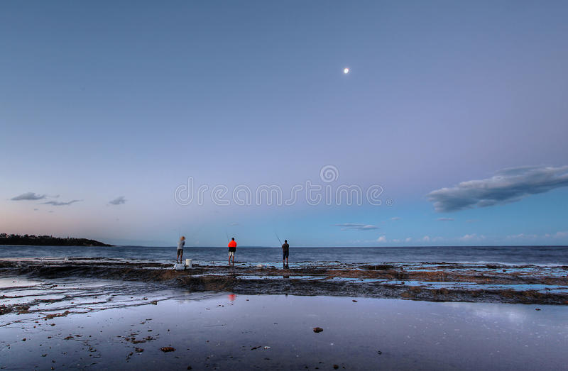синь пляжа стоковое фото rf
