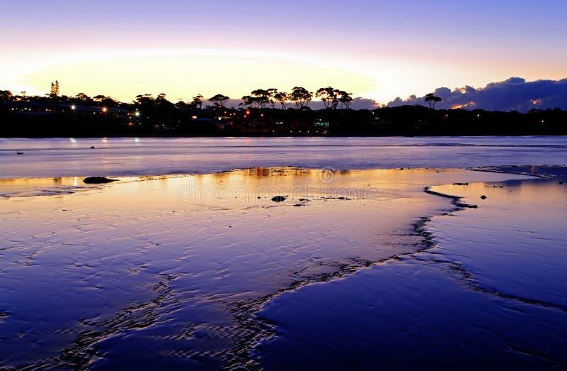 синь пляжа стоковые изображения rf