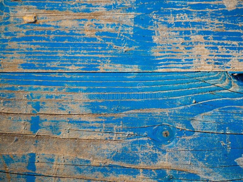 Синь покрасила выдержанные доски сосны близкий вверх по съемке стоковая фотография