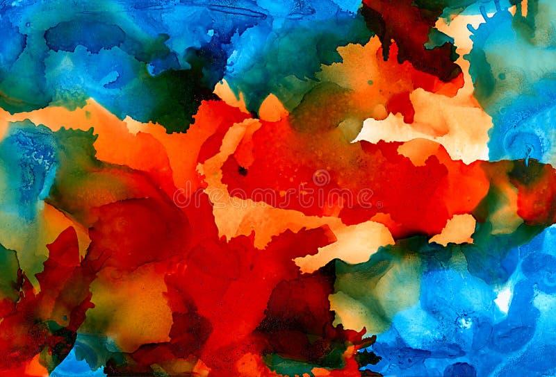 Синь покрашенная конспектом оранжевая с текстурой иллюстрация штока