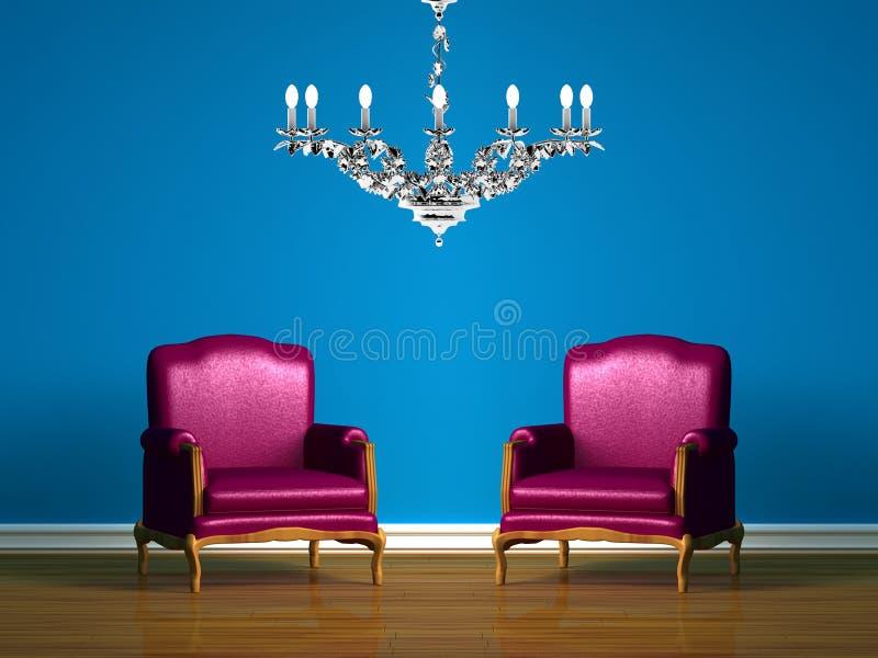 синь предводительствует нутряной минималист пурпур 2 иллюстрация штока