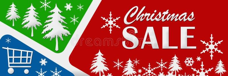 Синь продажи рождества красная зеленая иллюстрация штока