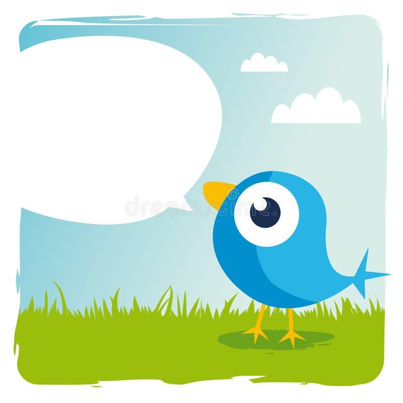 синь птицы иллюстрация вектора