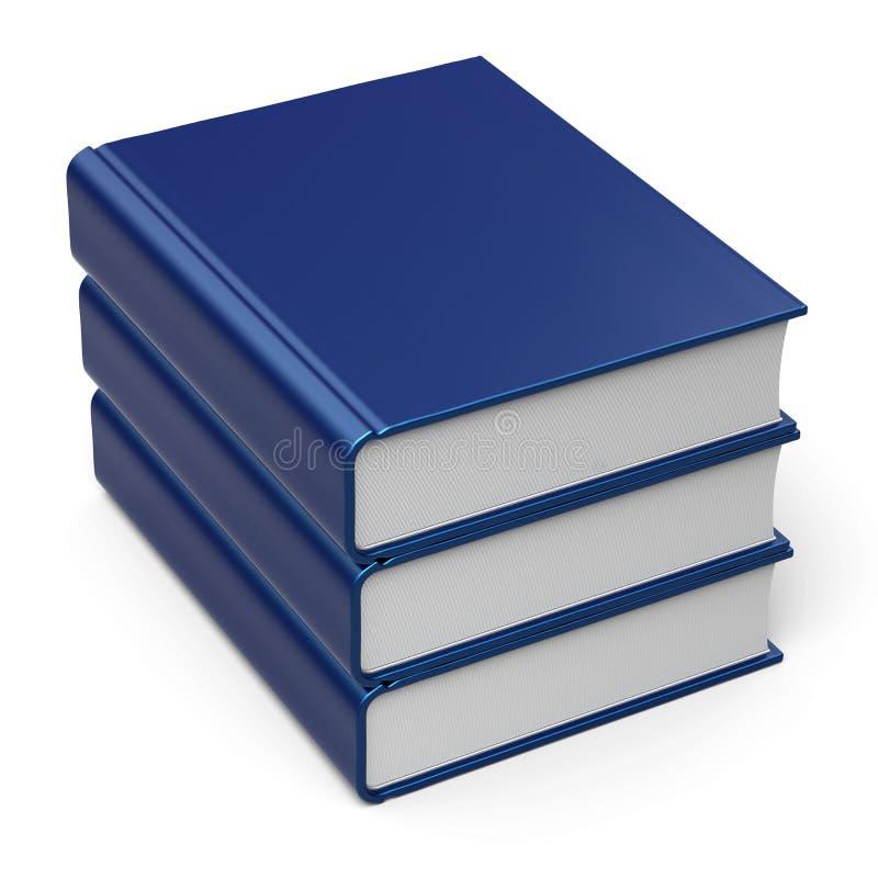 Синь 3 3 пустой крышки стога книги помещает содержимый значок в архив бесплатная иллюстрация