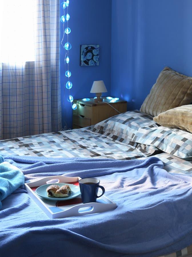 синь спальни стоковое фото