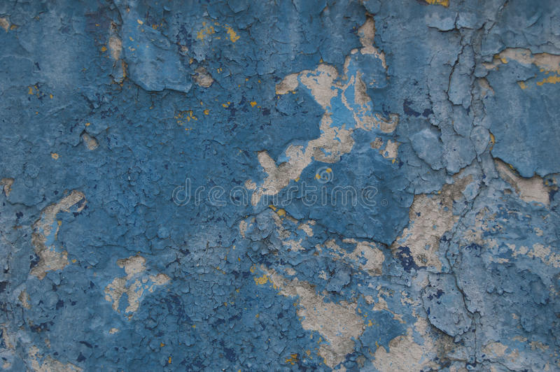 Синь стены краски предпосылки старая стоковые фото