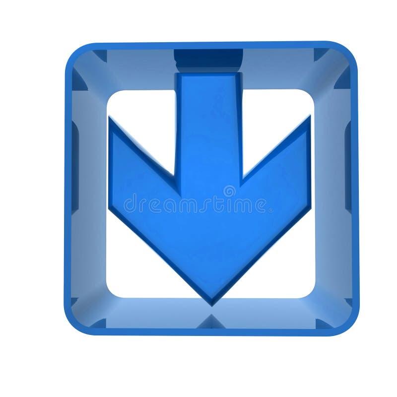 синь стрелки иллюстрация вектора
