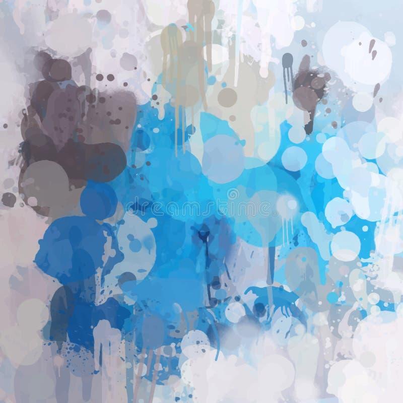 Синь с серыми ходами щетки бесплатная иллюстрация