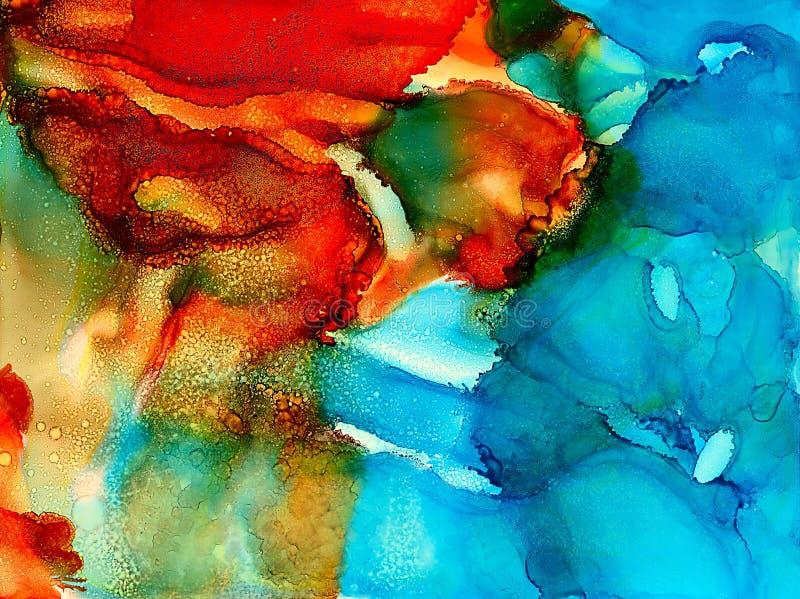 Синь текстурированная конспектом покрашенная оранжевая иллюстрация штока