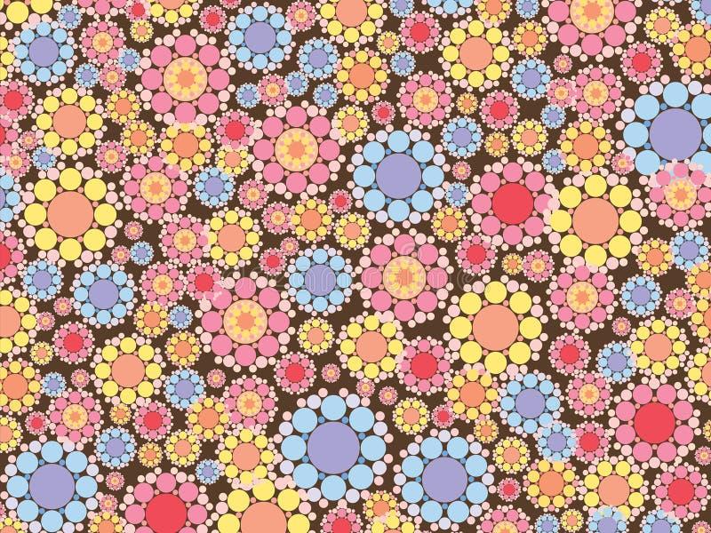 синь цветет розовый снежок иллюстрация вектора