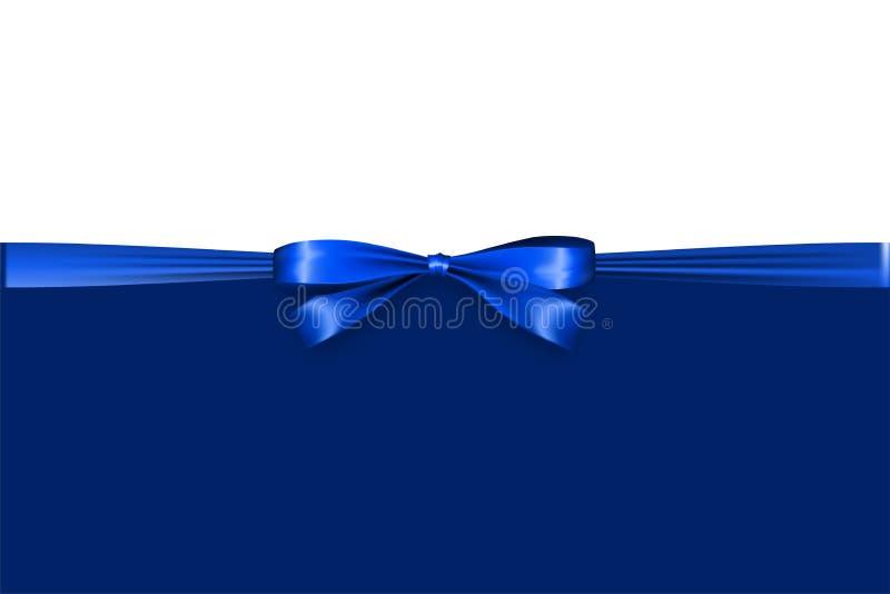 Синь человека ленты узла смычка подарка сатинировки праздника иллюстрация вектора
