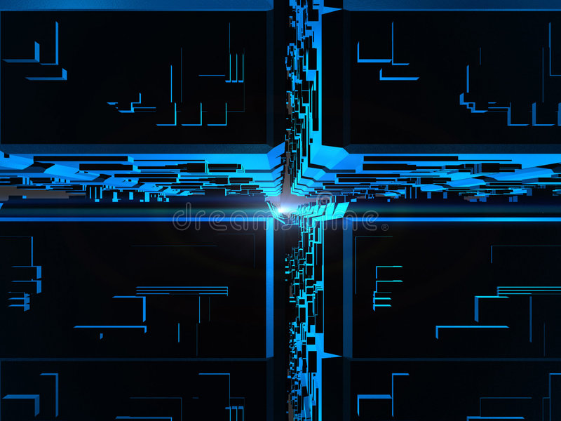 синь cubes фантазия футуристическая иллюстрация штока