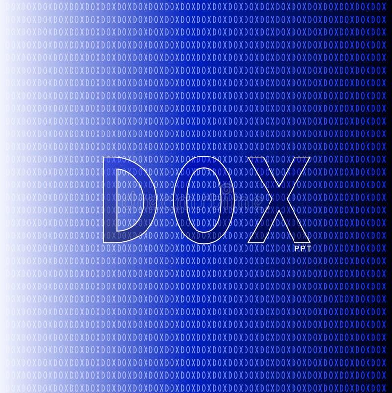 Синь Dox графическая бесплатная иллюстрация