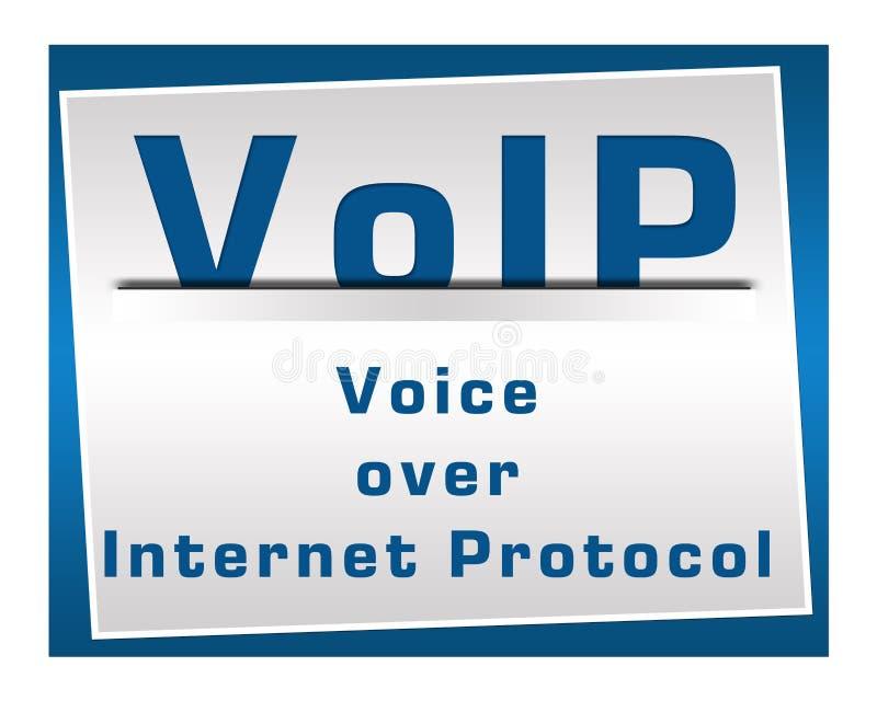 Синь VoIP квадратная иллюстрация штока