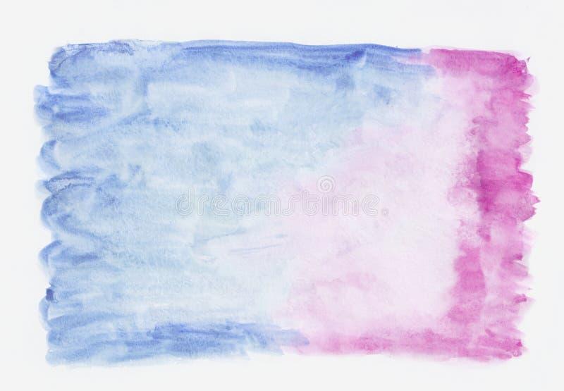Синяя и розовая смешанная предпосылка горизонтального градиента акварели 2-тона Оно ` s полезное для поздравительных открыток, ва бесплатная иллюстрация