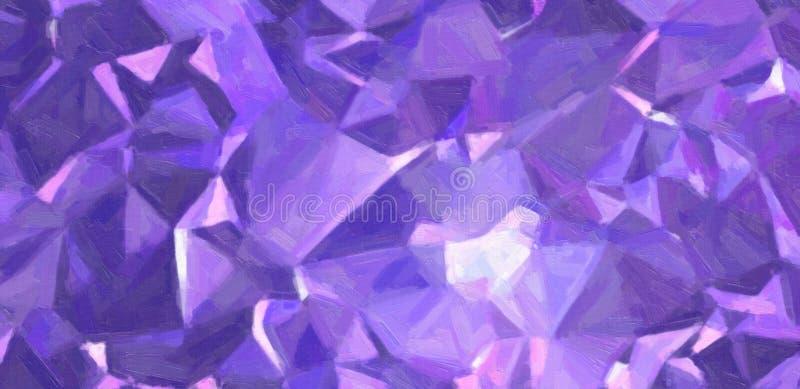 Синяя и фиолетовая краска масла с большой щеткой штрихует иллюстрацию предпосылки иллюстрация вектора