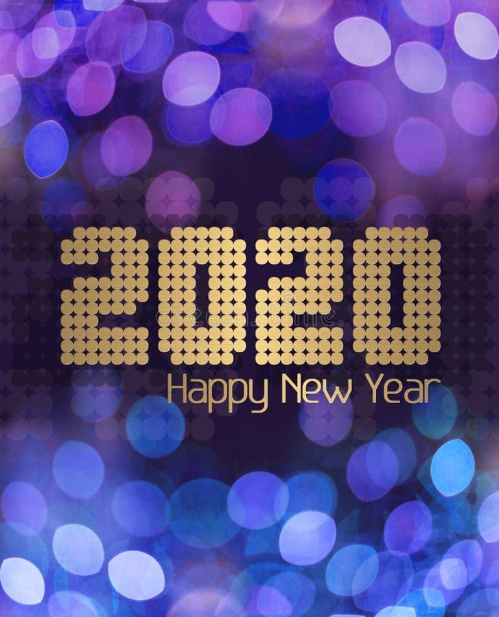 Синяя клитория С Новым Годом 2020 стоковые изображения rf