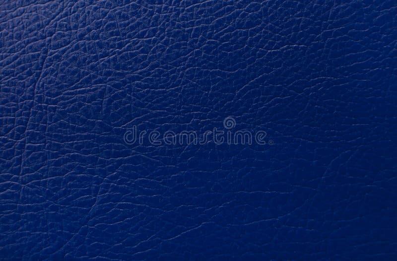 Синяя кожаная печать текстуры как предпосылка стоковые фотографии rf