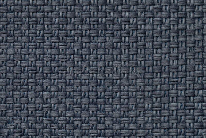 Синяя предпосылка ткани с checkered картиной, крупным планом Структура макроса ткани стоковые изображения