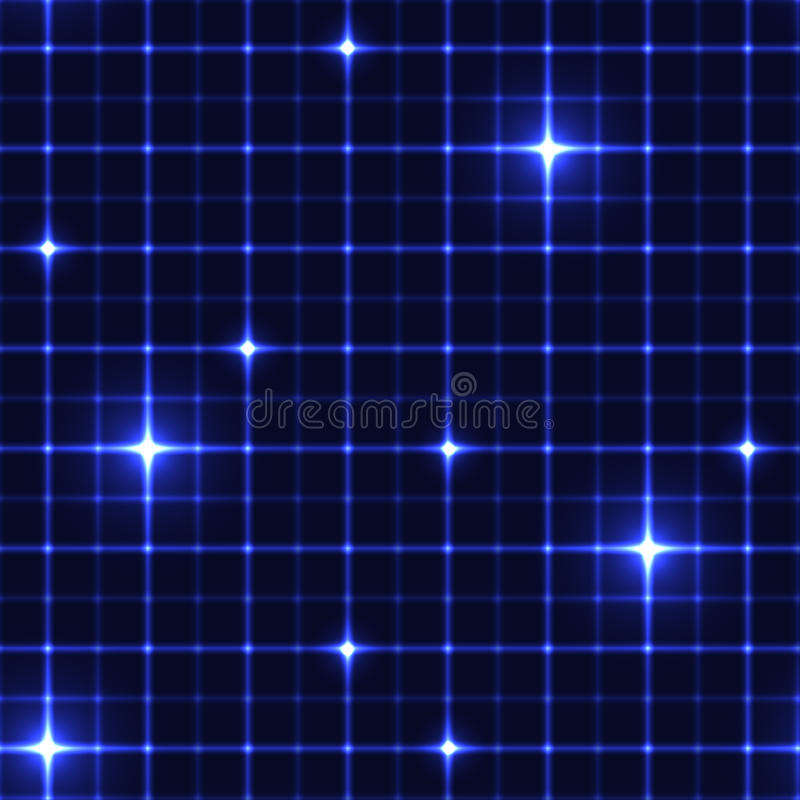 Синяя решетка с сияющими пунктами бесплатная иллюстрация