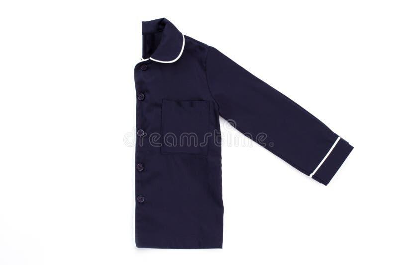 синяя рубашка на белизне стоковое изображение rf