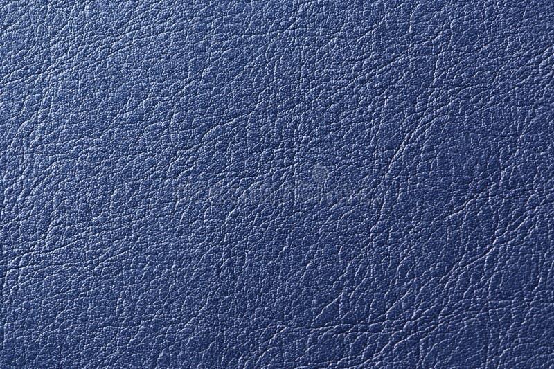 Синяя текстура предпосылки искусственной кожи стоковое изображение