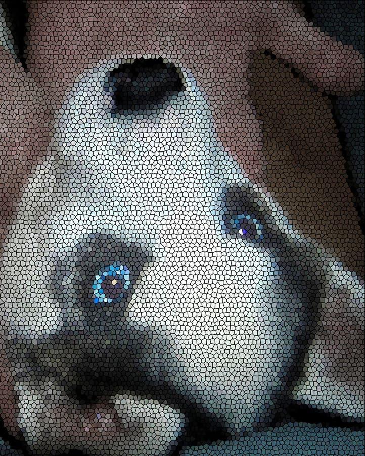 Сиплая марионетка собаки иллюстрация вектора